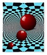 Three Red Balls Fleece Blanket