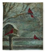 Three Reds Fleece Blanket