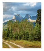 Three Sisters And A Dirt Road Fleece Blanket