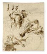 Three Studies Of The God Bacchus Fleece Blanket