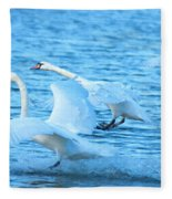 Three Swans Fleece Blanket