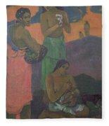 Three Women On The Seashore Fleece Blanket