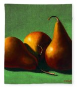 Three Yellow Pears Fleece Blanket