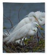 Three's Not A Crowd Fleece Blanket