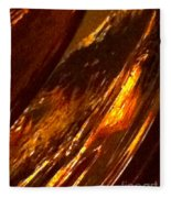 Through A Glass Darkly 3 Abstract Fleece Blanket