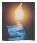 Through The Cracks Fleece Blanket