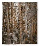 Through The Forest Trees Fleece Blanket
