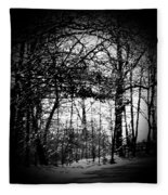 Through The Lens- Black And White Fleece Blanket