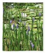 Through The Lily Pond Fleece Blanket