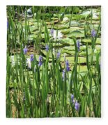 Through The Lily Pond Fleece Blanket