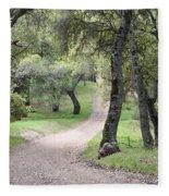 Through The Oaks Fleece Blanket