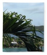 Through The Palms Fleece Blanket