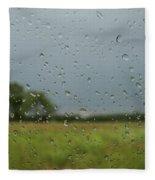 Through The Raindrops Fleece Blanket