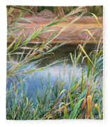 Through The Thickets Fleece Blanket