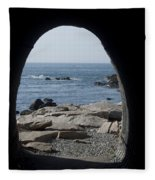 Through The Tunnel Fleece Blanket