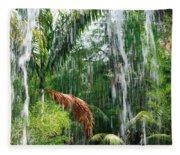 Through The Waterfall Fleece Blanket