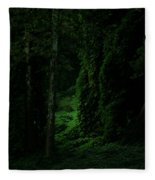 Through The Woods Dark And Deep Fleece Blanket