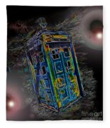 Tardis - Through Time And Space Fleece Blanket