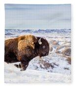 Thunder In The Snow Fleece Blanket