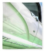 Thunderbird Abstract In Mint And White Fleece Blanket