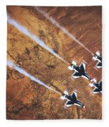 Thunderbirds In Diamond Roll Formation Fleece Blanket