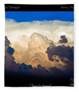 Thunderhead Cloud Color Poster Print Fleece Blanket