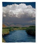 2a6738-thunderhead Over Owens River  Fleece Blanket