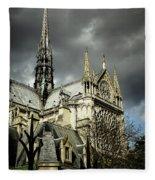 Thunderous Notre Dame Fleece Blanket