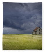 Thunderstorm On The Prairie Fleece Blanket