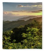 Thunderstruck Sunset Fleece Blanket