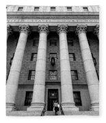 Thurgood Marshall United States Courthouse, Lower Manhattan New  Fleece Blanket