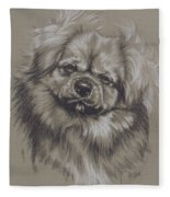 Tibetan Spaniel Fleece Blanket