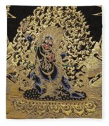 Tibetan Thangka - Vajrapani - Protector And Guide Of Gautama Buddha Fleece Blanket