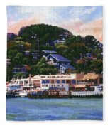 Tiburon California Waterfront Fleece Blanket