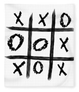 Tic-tac-toe Fleece Blanket