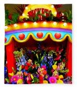 Ticket Booth Of Flowers Fleece Blanket
