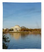 Tidal Basin And Jefferson Memorial Fleece Blanket