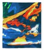 Tidal Forces Fleece Blanket