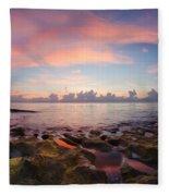 Tidal Pools At Sunrise Fleece Blanket