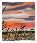 Tideland Sunset Fleece Blanket