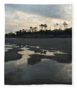 Tidepools At Dawn Fleece Blanket