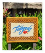 Tidepools Restaurant Fleece Blanket