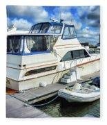 Tidewater Yacht Marina 5 Fleece Blanket