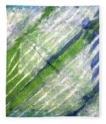 Tie Dye Art. Rainforest In Spring Fleece Blanket
