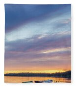 Tied Off In French Village, Nova Scotia Fleece Blanket