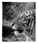 Tiger 2 Bw Fleece Blanket
