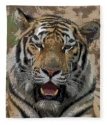 Tiger Abstract Fleece Blanket