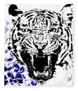 Tiger And Paisley Fleece Blanket