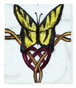 Tiger-butterfly Celtic Double Knot Fleece Blanket