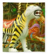 Tiger Carousel Fleece Blanket